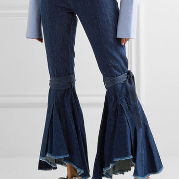 Maggie Marilyn - Firm In Her Beliefs frayed high-rise flared jeans