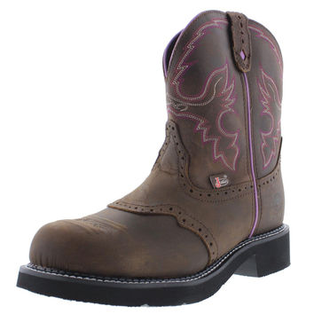 Justin Original Work Boots Womens Leather Steel Toe Work Boots