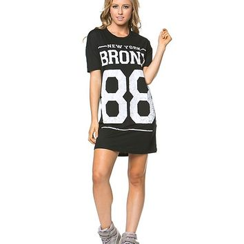 Bronx 88 Shirt Dress in Black
