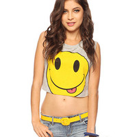 Cropped Happy Face Tank
