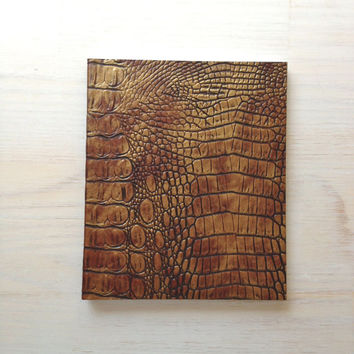 Wedding Guest Book, Wild, Animal Skin, Rustic, Brown, Blank, Unlined, Earthy, Handmade, Unique, Hand Sewn, Wedding Book