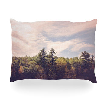 "Jillian Audrey ""Walden Woods"" Green White Oblong Pillow"