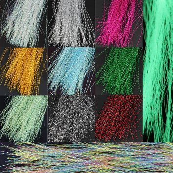 13 bags Fly Tying Material Crystal Flash Holographic Fishing Lure Tying Making 13 Colors 150pcs / bag Night glow Material