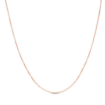 0.45mm Box Chain Necklace in 14K Rose Gold|Zales