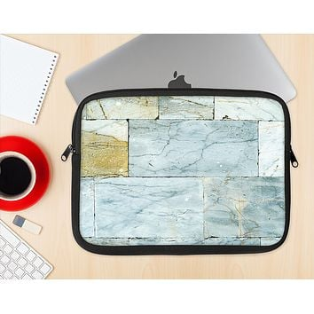 The Blue Marble Layered Bricks Ink-Fuzed NeoPrene MacBook Laptop Sleeve