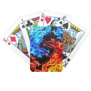 flames of good and evil bicycle playing cards