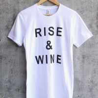 distracted - rise up and - white/black graphic tee