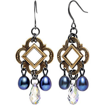 Body Candy Handcrafted Aurora Art Deco Dangle Earrings Created with Swarovski Crystals