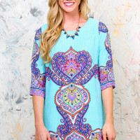 Renee Printed Shift Dress