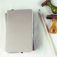 Brown Pocket Notebook Handmade By Mossery by MosseryCo on Etsy