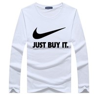 Cotton Round-neck Long Sleeve T-shirts Korean Plus Size Sports Tops Winter Bottoming Shirt [12225175315]