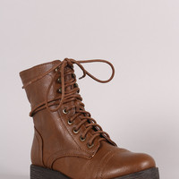 Bamboo Combat Lug Ankle Boots