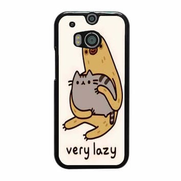 pusheen cat and sloth case for htc one m8 m9 xperia ipod touch nexus