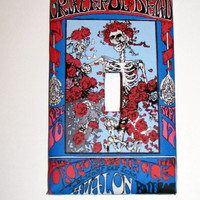 Light Switch Cover - Light Switch Grateful Dead  Vintage Poster