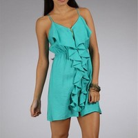 Mint Satin Summer Dresses