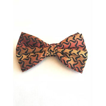 Orange, Gold and Black Bow tie