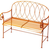 Ellipses Transitional Bench Orange