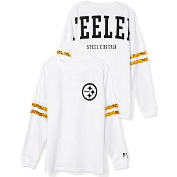 d6bf547e7ca Pittsburgh Steelers Bling Varsity Crew - PINK - Victoria s Secret