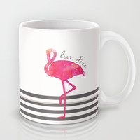 Live Free Flamingo  Mug by Sunkissed Laughter