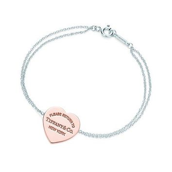 Tiffany & Co. -  Return to Tiffany™ heart bracelet in RUBEDO™ metal and sterling silver, small.