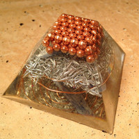Flat Top Orgonite Pyramid, sacred geometry, spiritual gifts