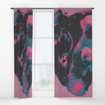 Party Girl Window Curtains by duckyb