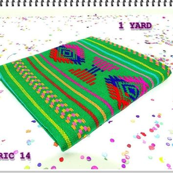 Tribal fabric by the yard, mexican party decorations, Mexican fiesta party