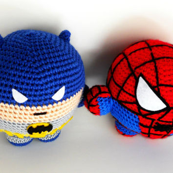 Batman Superhero Inspired Plush Toy - Fatman - Super Balls Amigurumi