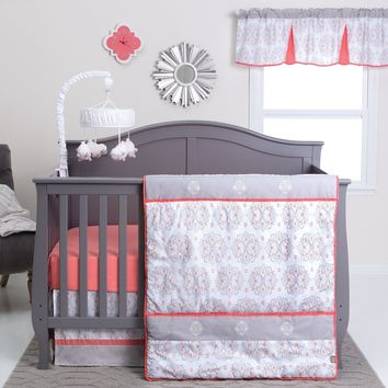 Valencia 3 Piece Crib Bedding Set