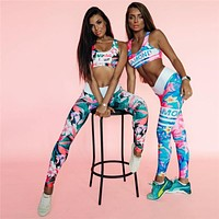 Yoga Autumn Hot Sale Women's Fashion Stylish 3D Print Sportswear Set [83148931087]