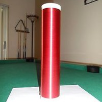 """Tesla Coil Secondary 30awg 10.3"""" wound on 2.4"""" PVC pipe, 940 turns"""
