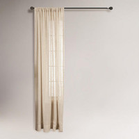 Natural Bloomfield Curtain | World Market