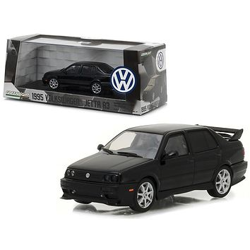 1995 Volkswagen Jetta A3 Black 1/43 Diecast Model Car by Greenlight