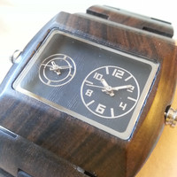 Eco-Friendly Sandal Wood Analog Dual Movement Wood Watch - All Wood, custom made for our store
