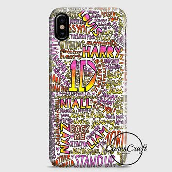 One Direction Harry Styles Tattoos iPhone X Case | casescraft