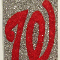 Sparkly Washington Nationals iPhone 4/4G OR iPhone 5 Cell Phone Case