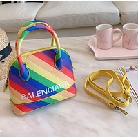 Balenciaga Women Shopping Leather Tote Crossbody Satchel Mini Shoulder Bag