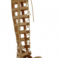 MIA Devi Lace-up Gladiator Sandal, Natural