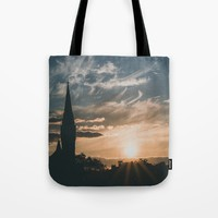 Tower in the Sunset Tote Bag by Errne