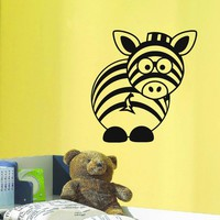 Wall Decal Vinyl Sticker Wild Animal Zebra Baby Room Nursery Decor Sb460
