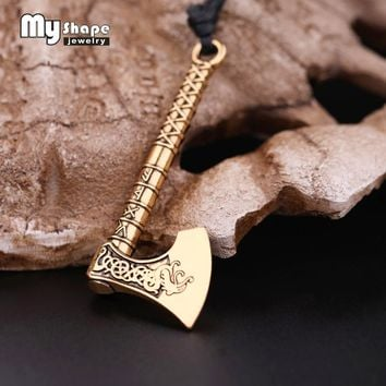 My shape Newest Chinese Dragon Symbol Norse Vikings Runes Myth Rune Amulet Pendant Necklace Luck Blessing Jewelry Cool Punk