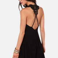 Your Doily Horoscope Crocheted Black Dress