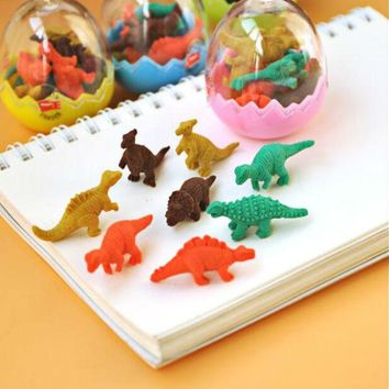 Mini Dinosaur Egg Modeling Small Eraser Creative Stationery School Supplies Wholesale Cartoon Cute Student Prizes Rubber