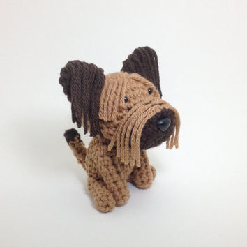 Briard Crochet Dog Stuffed Animal Puppy Plush Toy Handmade Amigurumi Doll / Made to Order