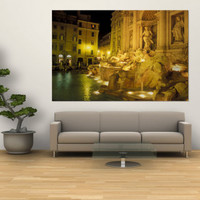 Trevi Fountain at Night, Rome, Italy Wall Mural by Connie Ricca at Art.com
