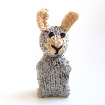 Amigurumi Easter Bunny - Hand Knitted Miniature Stuffed Animal - Kids Spring Toy - Plush Rabbit Doll