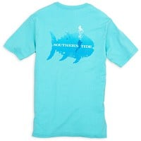 Scuba Pocket Tee Shirt in Crystal Blue by Southern Tide