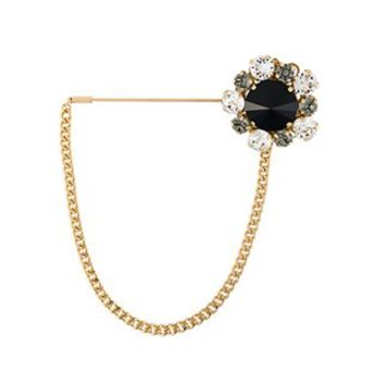 Dolce & Gabbana Crystal Flower Brooch - Donne Concept Store - Farfetch.com