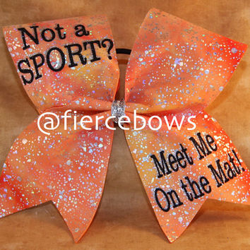 Not A Sport?  Meet Me on the Mat Cheer Bow