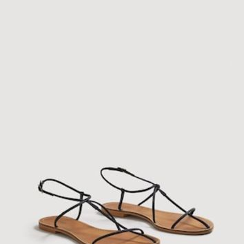 Decorative strap sandals - Women | MANGO USA